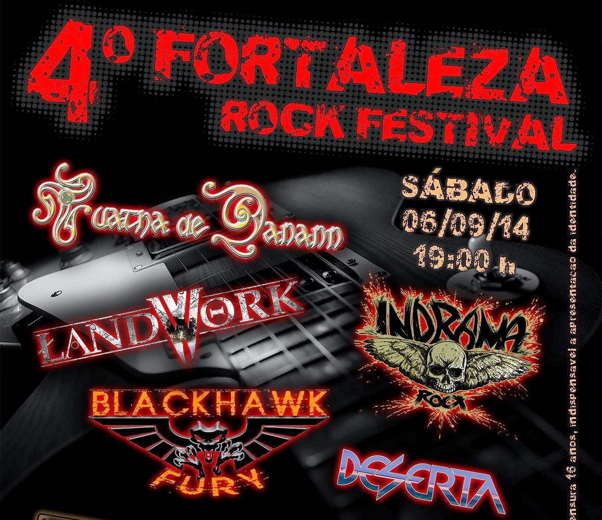 Cartaz do 4º Fortaleza Rock Festival