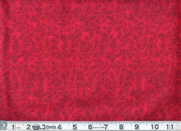 Holiday Red Vineyard Fabric