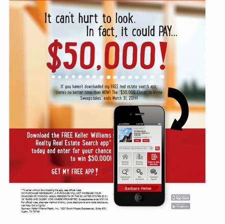 THE $50,000 CLOSER TO HOME SWEEPSTAKES*