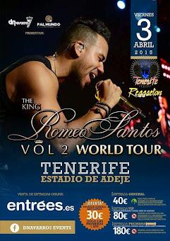 Romeo Santos Visita Tenerife el día 3 de Abril