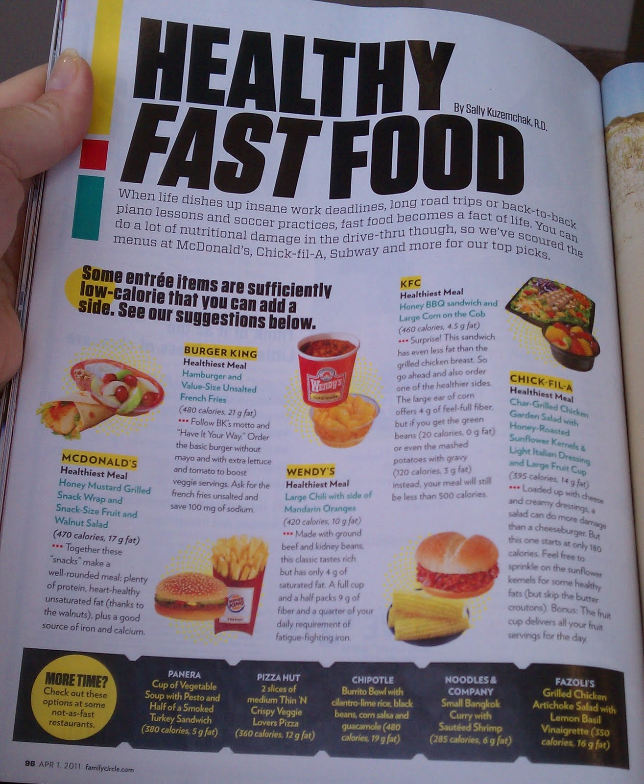 fast food restaurants and healthy choices Restaurants, convenience and grocery stores, or fast-food places offer a  think  about ways to make healthier choices when eating food away.