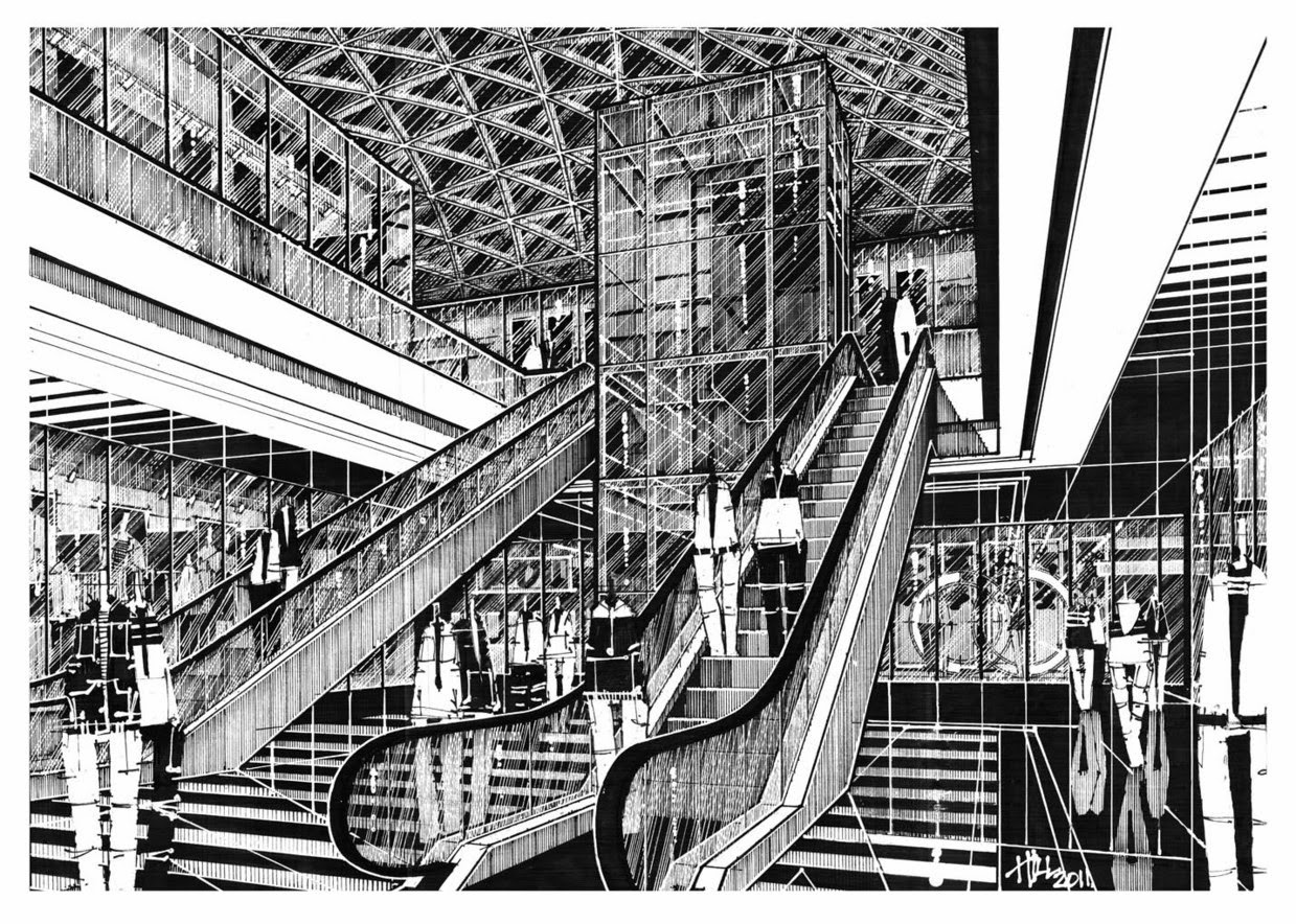 17-Paul-Hill-Pen-and-Ink-Architectural-Drawings-and-Sketches-www-designstack-co