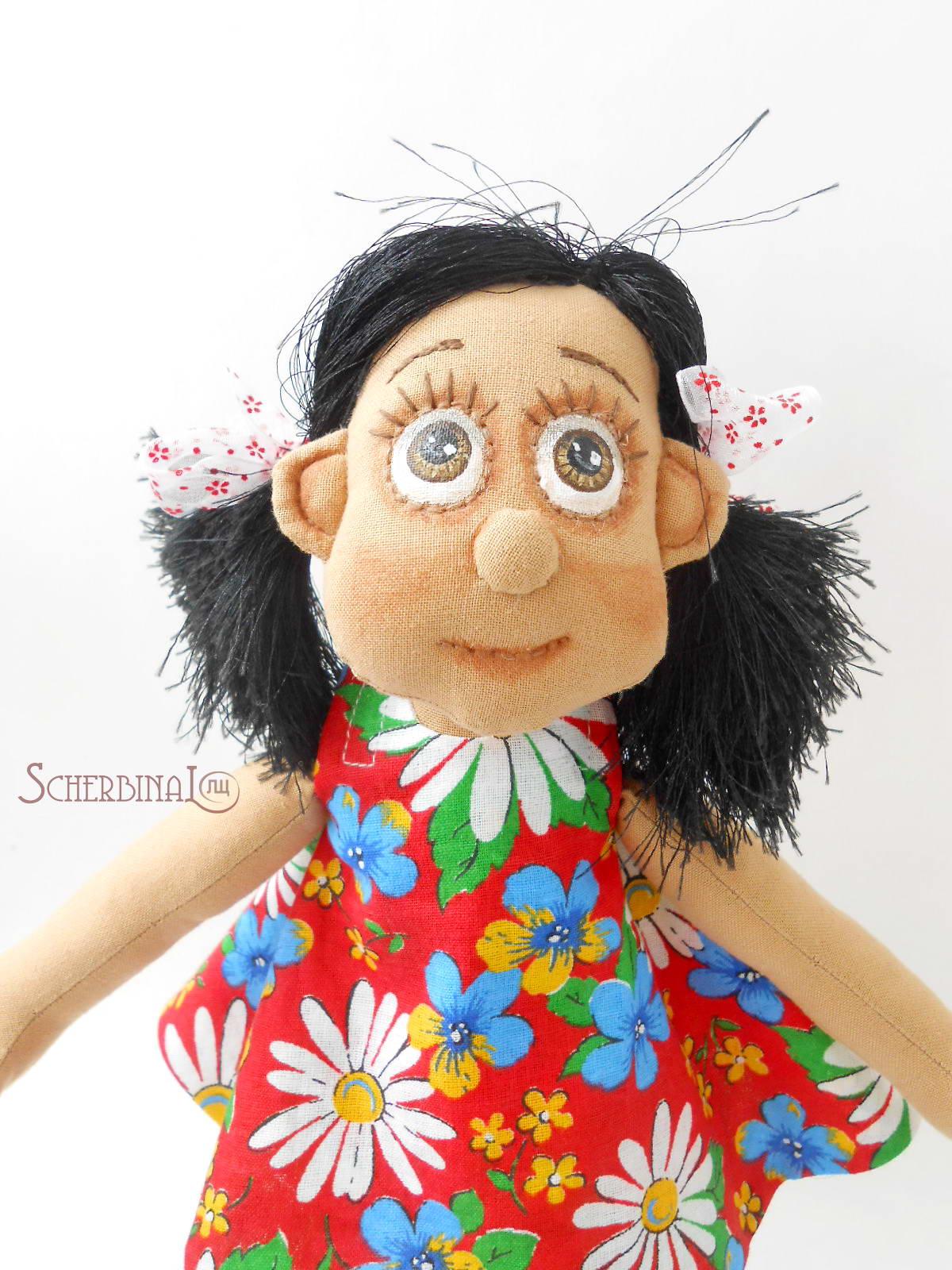 авторская текстильная игровая кукла-карамелька, ручная работа