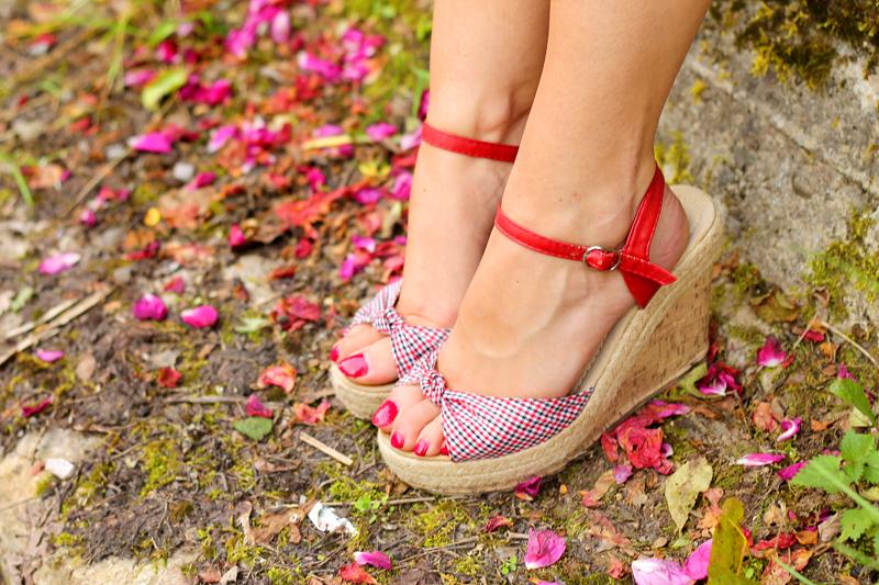 letnie sandaly z paskiem