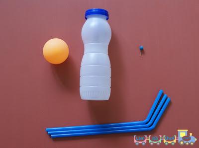 đồ chơi từ ống hút chai nhựa
