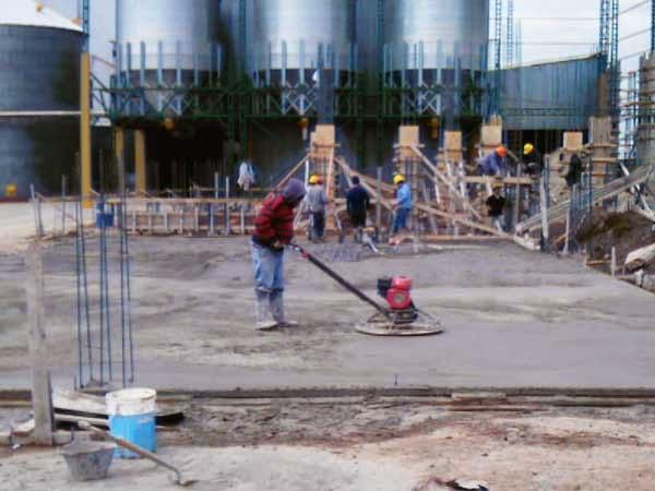 Acabado de pisos para trabajo pesado