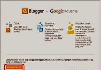 daftar google adsense via blog