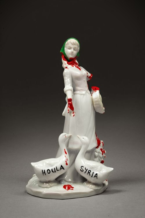 Penny Byrne porcelain sculptures surreal figures dolls social criticism