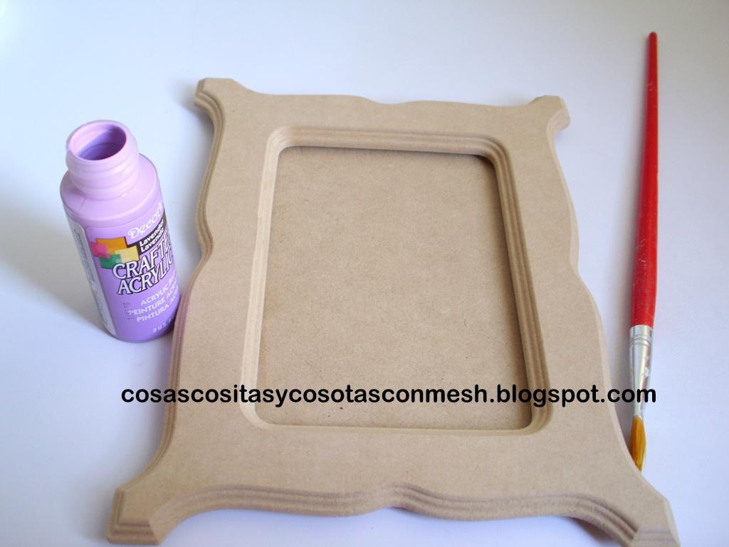 Como decorar un portaretrato de madera ~ cositasconmesh
