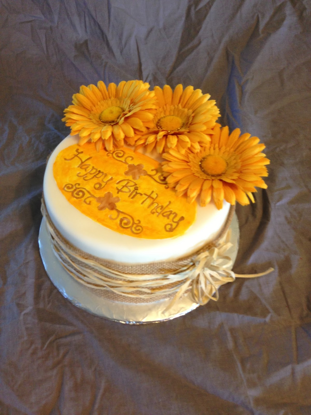 Sew Sweet Creations Sunflower Cake