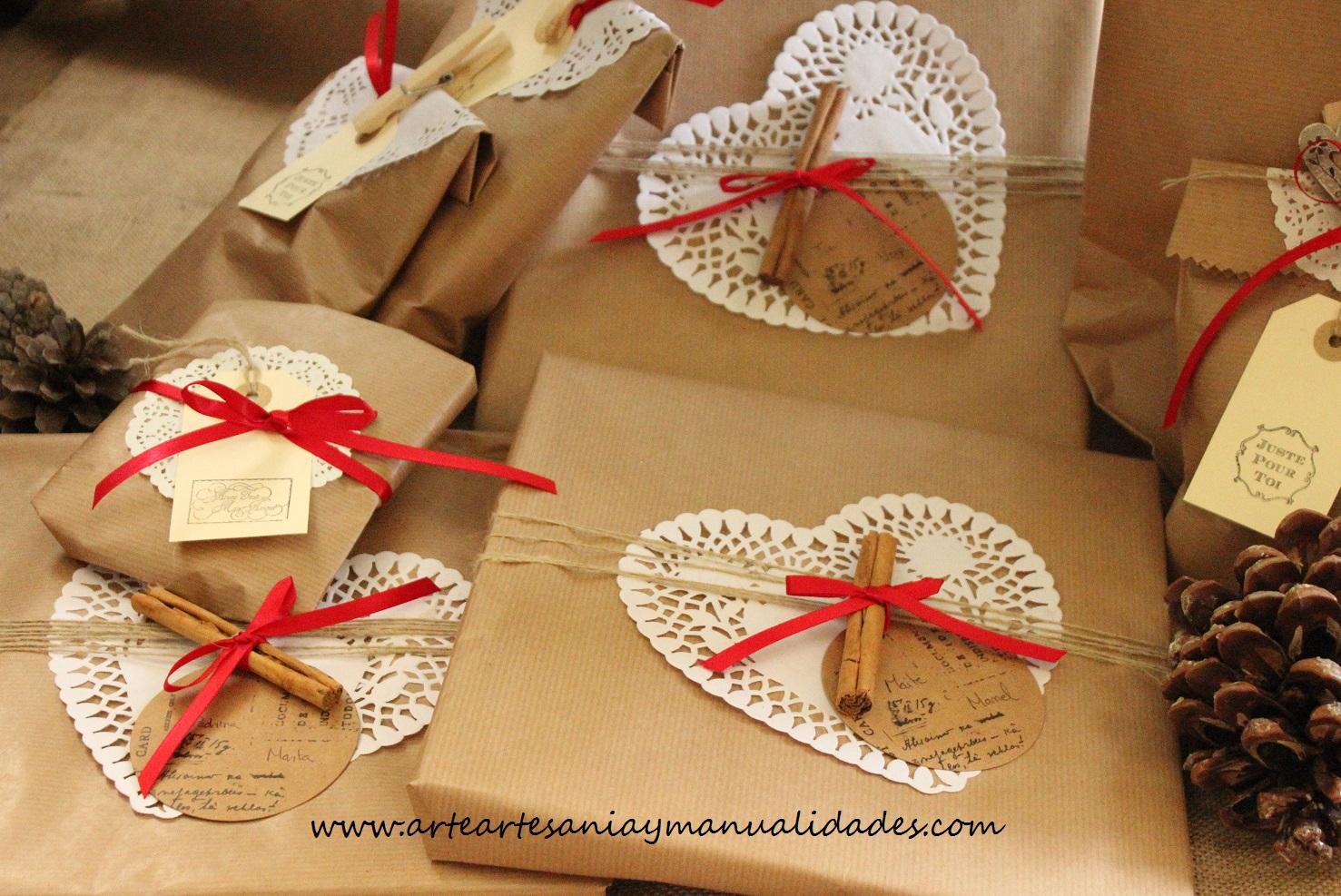 Arte artesania y manualidades packaging creativo de navidad for Manualidades de navidad 2016