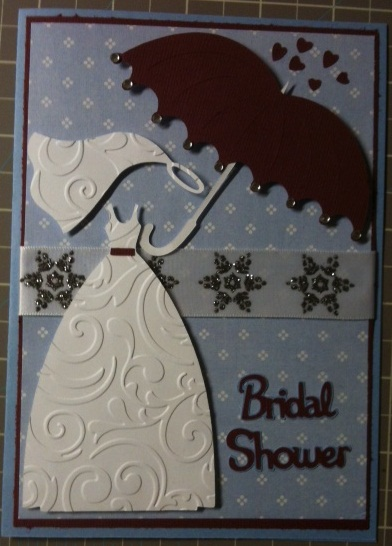 since I tried to incorporate the bridal shower theme winter wonderland