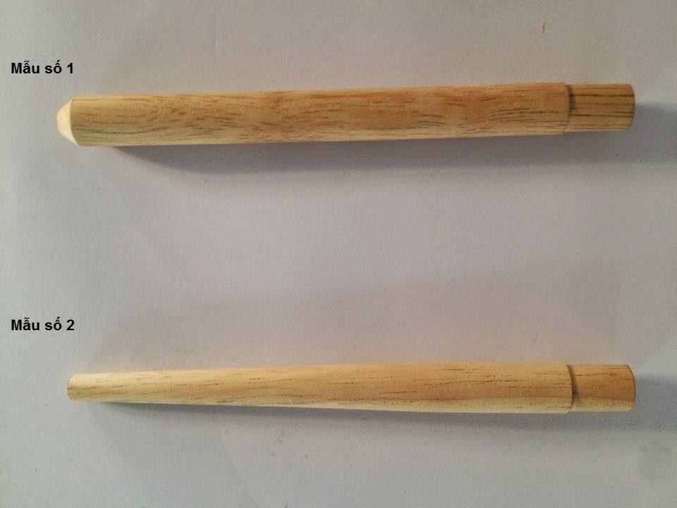 Cán cọ gỗ cao su