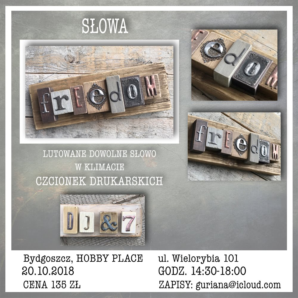 Bydgoszcz, Hobby Place, lutowane SŁOWA