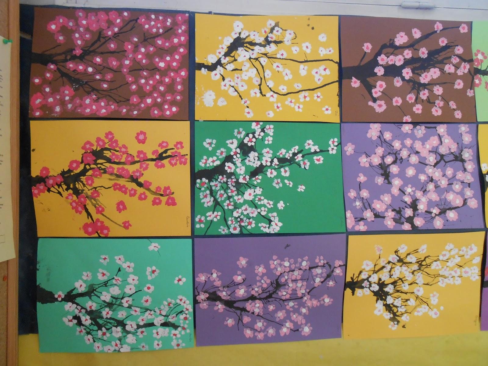 Th mes d 39 cole printemps arbre en fleurs - Le printemps gs ...
