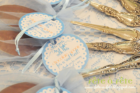 f te unique practical baby shower favor chocolate covered spoons