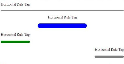 Horizontal Rule Tag