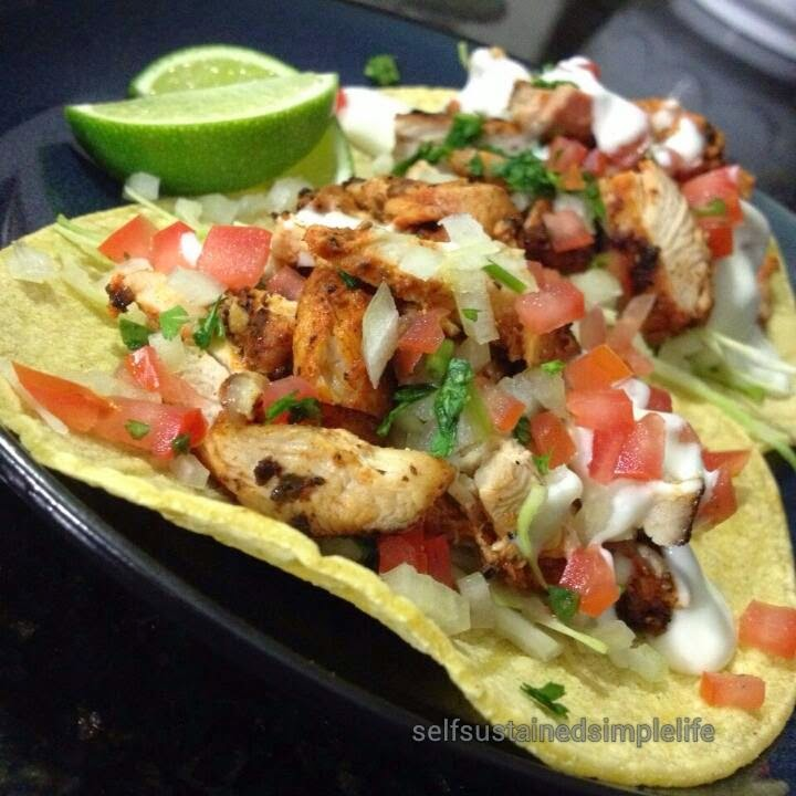 Our Journey to a Simple Life: Baja Style Grilled Chicken Tacos