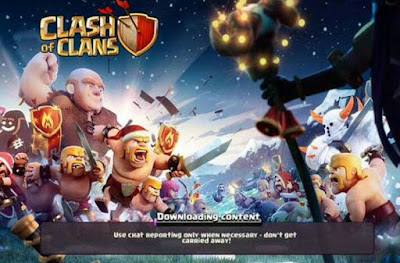 Cara mengatasi Downloading Content di Clash of Clans