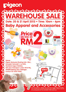 Pigeon Baby Products Warehouse sale 2013