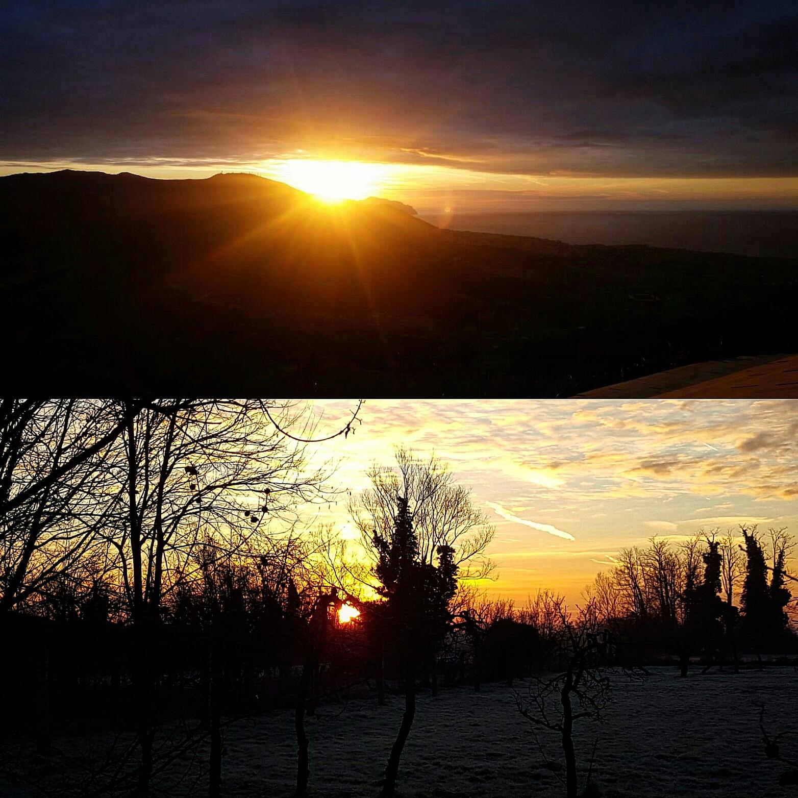 Alba nello stesso attimo in luoghi diversi
