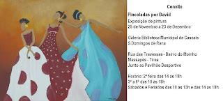 cartaz da exposição Pinceladas por David