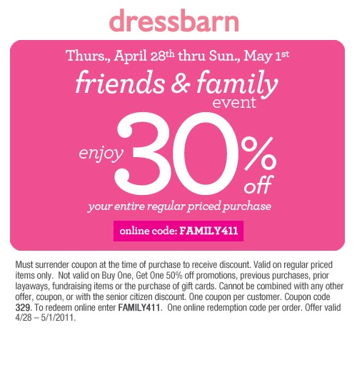 Dress Barn coupons are almost always available, it's just a matter of finding the best discount for your particular purchase. The best coupon code is a DealsPlus exclusive, $50 off coupon .