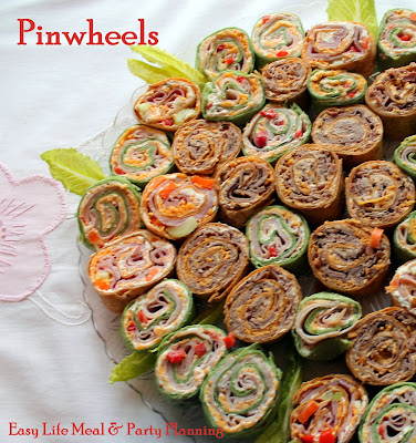 Deli Pinwheels - 3 types - Easy Lief meal & Party Planning