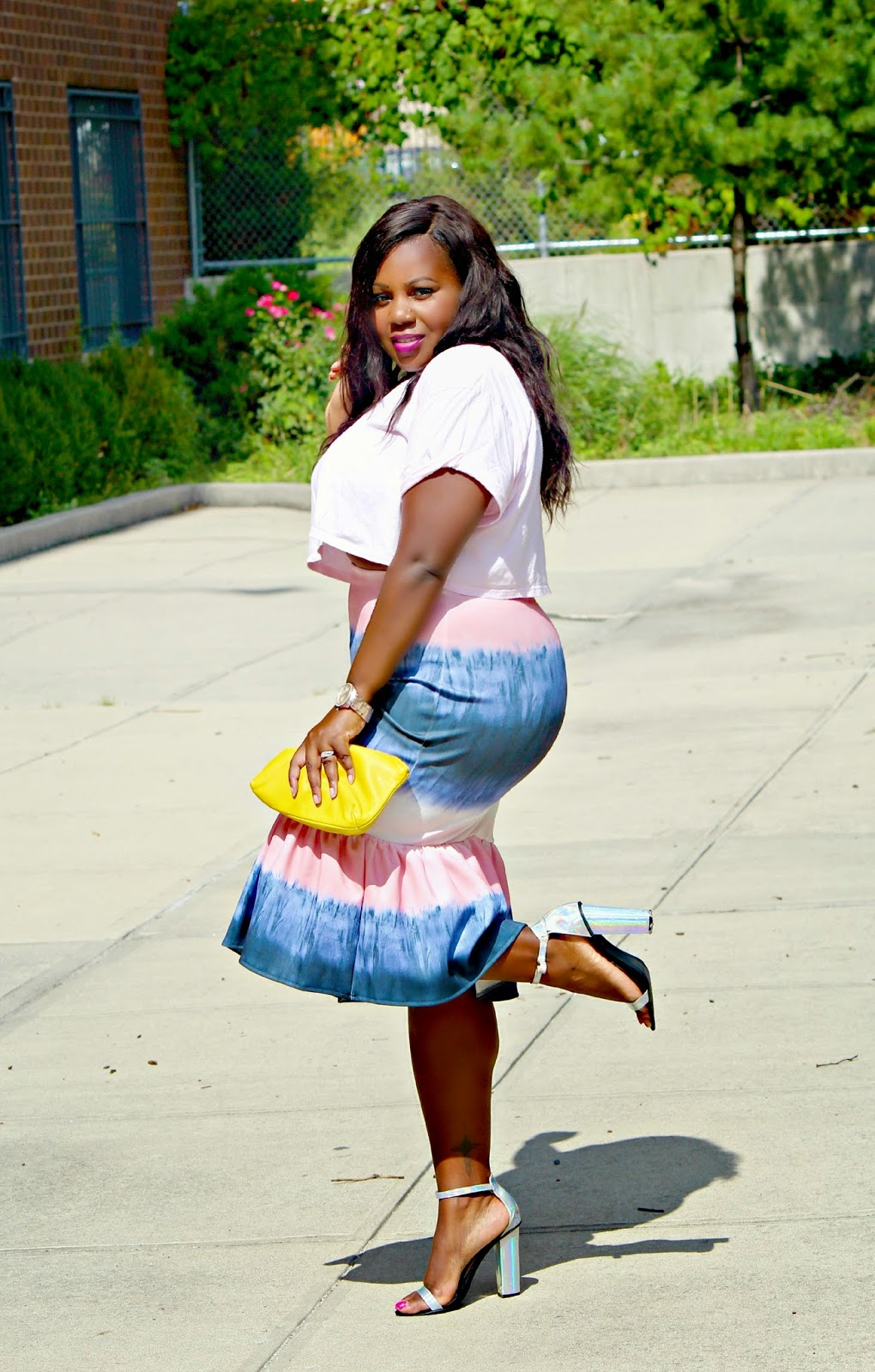 American apparel crop box t shirt top pink