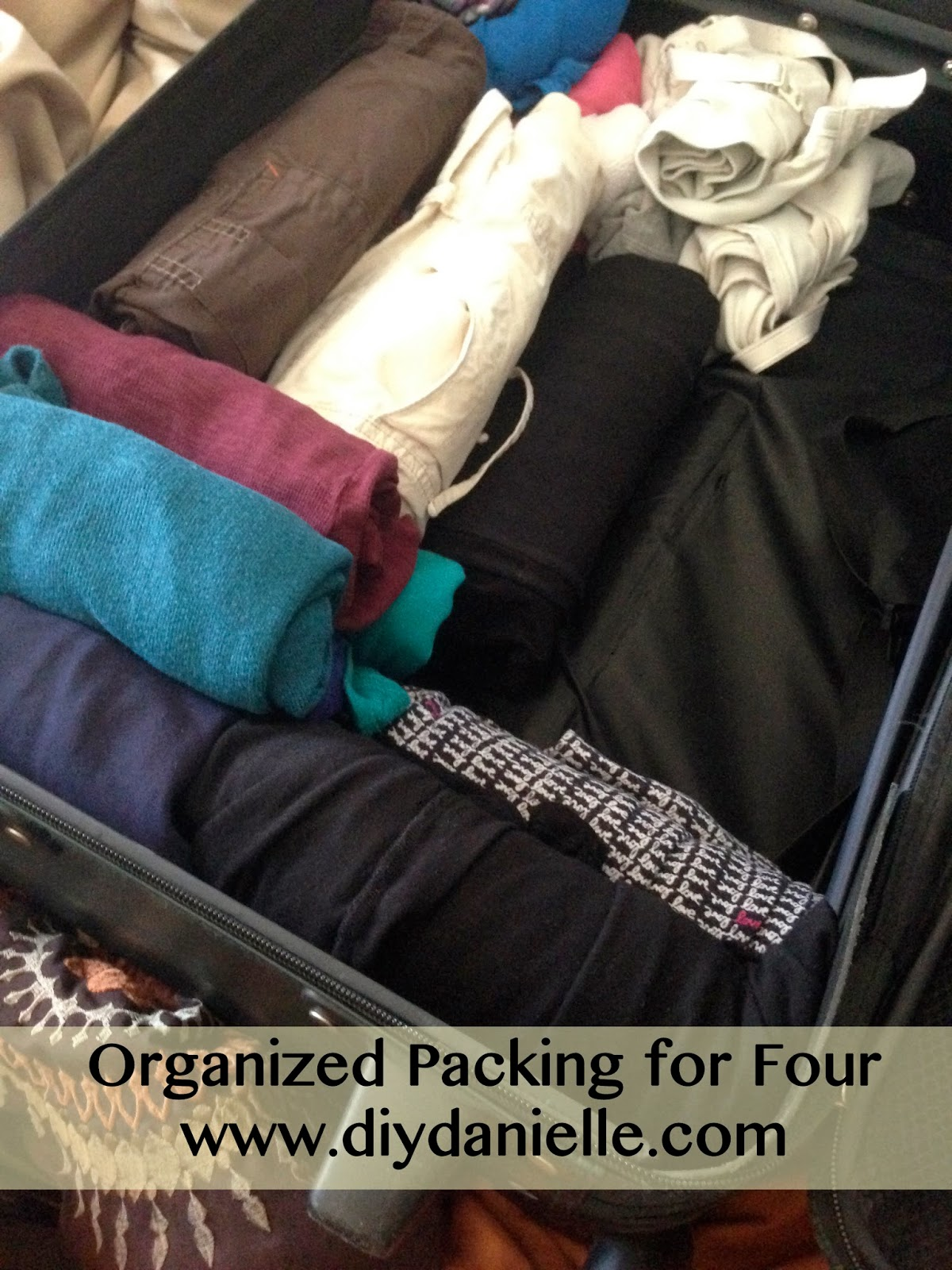 how to pack for a family of four
