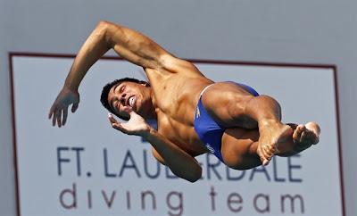 Olympic diver Luiz Felipe A Outerelo of Brazil