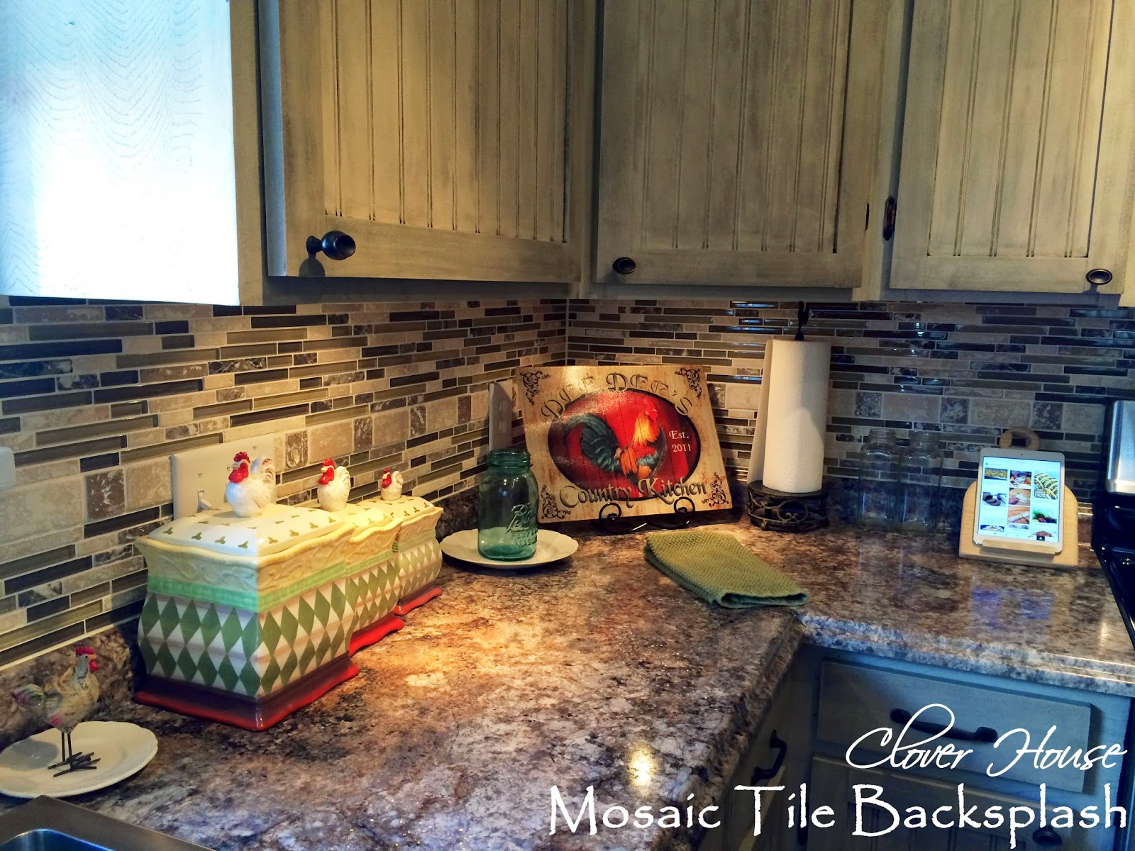 clover house diy mosaic tile backsplash