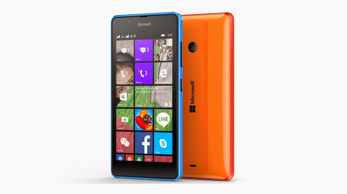 harga smartphone terbaru microsoft lumia 540 quad-core