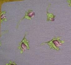 Tecido para sacos - Roxo flores