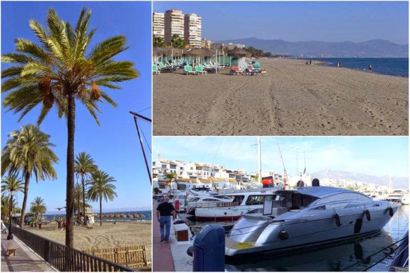 Marbella, Playa de Torremolinos y Puerto Banus