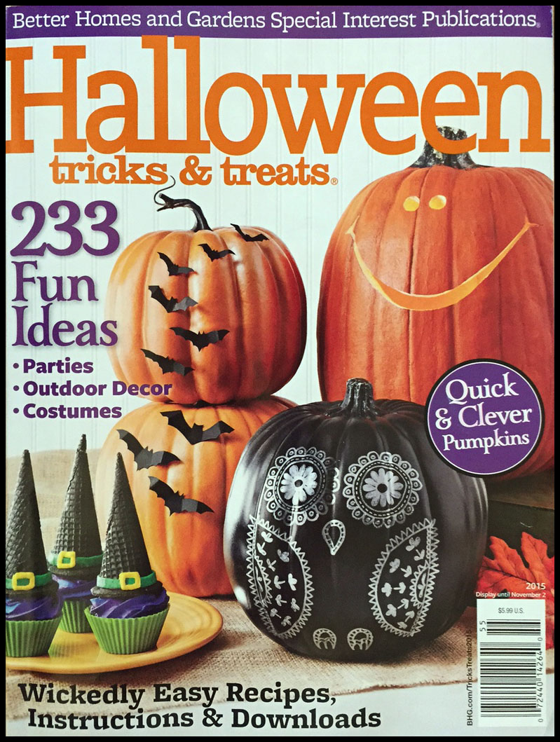 2015 better homes gardens halloween tricks treats magazine - Halloween Magazines