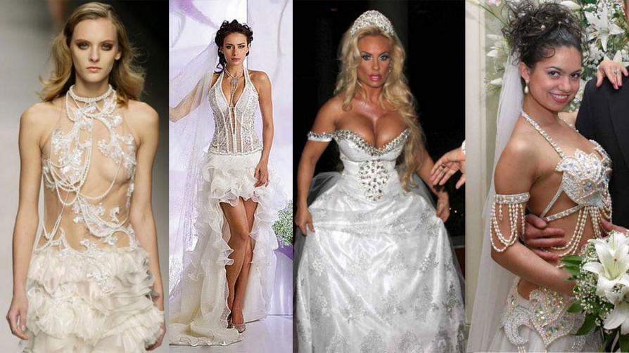 vestidos de novia mas atrevidos, que jamas deberia usar | alobelleza
