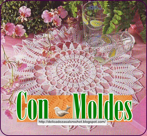 Delicadezas en crochet gabriela centro de mesa ganchillo - Centros de mesa de ganchillo ...