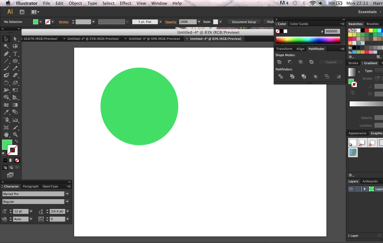 Then i made another circle in another colour this helps to see the