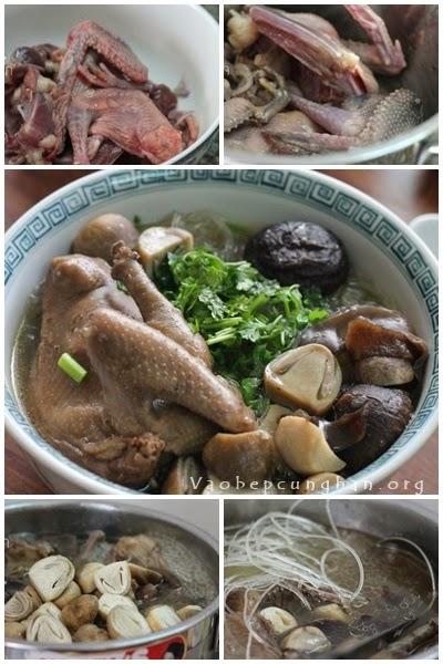 Cách nấu miến chim Bồ câu bồi bổ 1