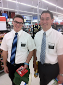 Elder Pincock & Elder Earl at Walmart in Mililani Oahu