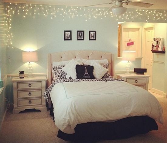 fio de luz, pisca pisca, luz de Natal, christmas light, Natal, quarto, decoração, bedroom, diy, faça você mesmo