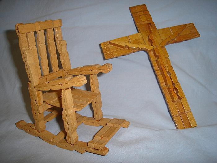 Egb grupo norte la palma trabajos con pinzas - Manualidades con madera faciles ...