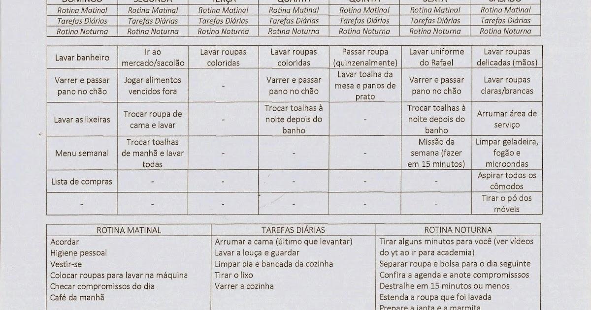 Super Amar, decorar e cozinhar: Minha Rotina (Update - MAIO/2015) EE89