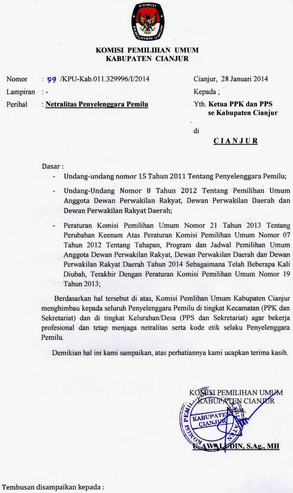Contoh Surat Mandat Saksi Pemilu 2019 Suratmenyurat Net