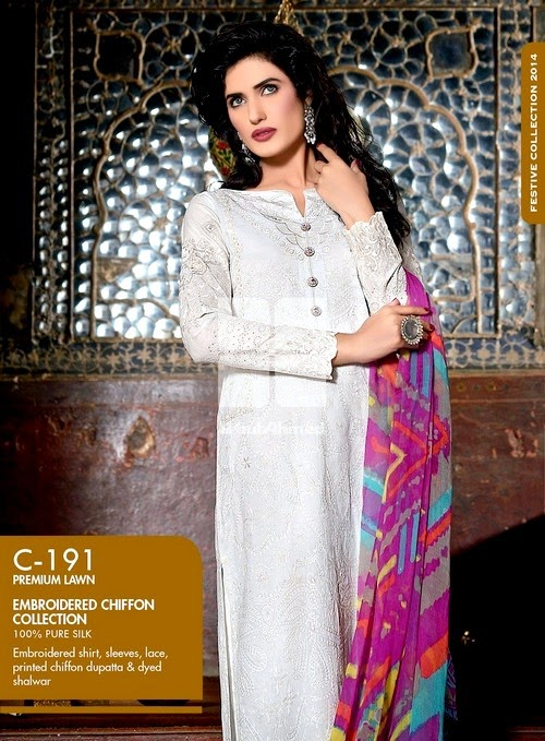 Chiffon Collection 2014 from Eid Chiffon Catalog