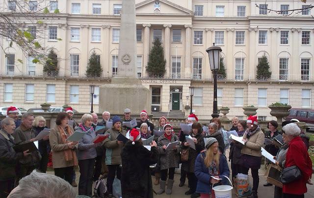Choir at Cheltenham Christmas Market