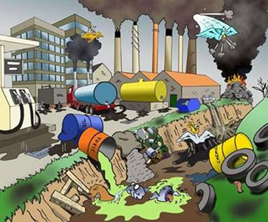 el suelo se contamina cuando le echamos lo siguiente
