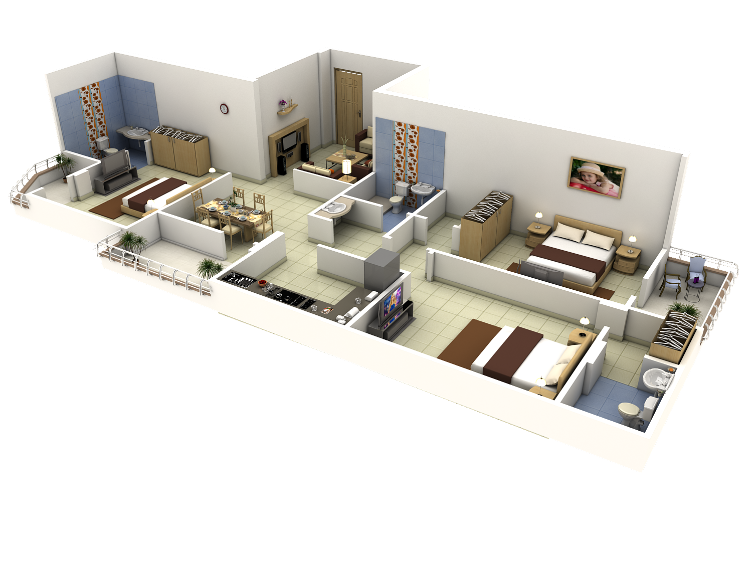 Tech n gen 3d modules 3d architectural floor plans