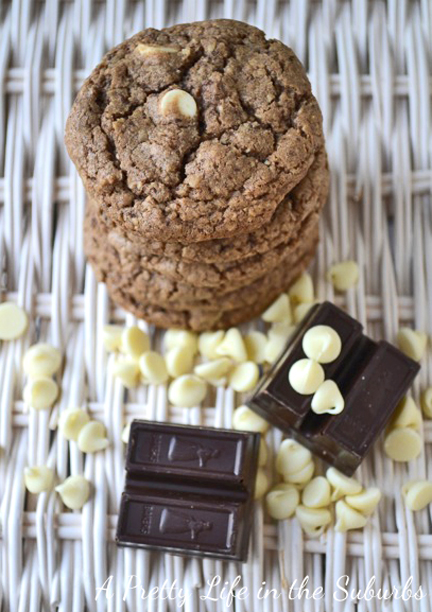 Chewy White Chocolate Chip Chocolate Cookies